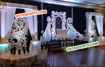 Elegant Reception Wedding Stage Decor