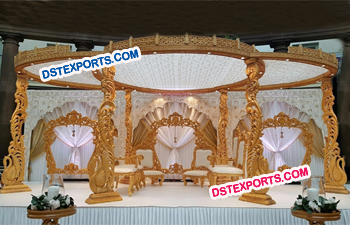 Wooden Carved Swan Mandap