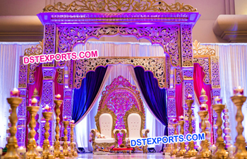 Traditional Fiber Wedding Mandap