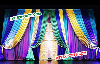 Backdrop Wedding Stage Decoration