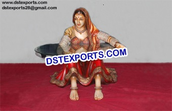 Rajasthani Fiber Statue Cum Table