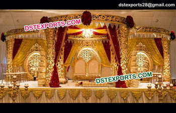 Exclusive Golden Wedding Mandap
