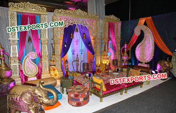 Moroccan Theme Wedding Sangeet Stage