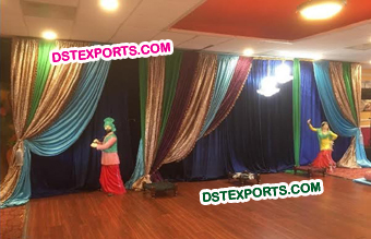 Punjabi Wedding Stage Backdrop Decoration