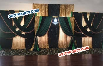 Wedding Reception Decor Stage Backdrop