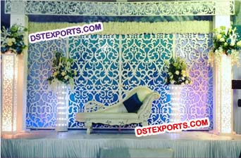 Wedding Wooden Jali Backdrop Panel