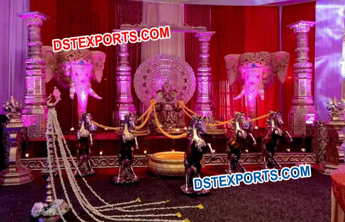 South Indian Wedding Stage Decorations
