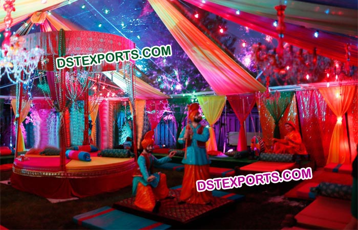 Punjabi Wedding Sangeet Mehandi Night Theem Deco