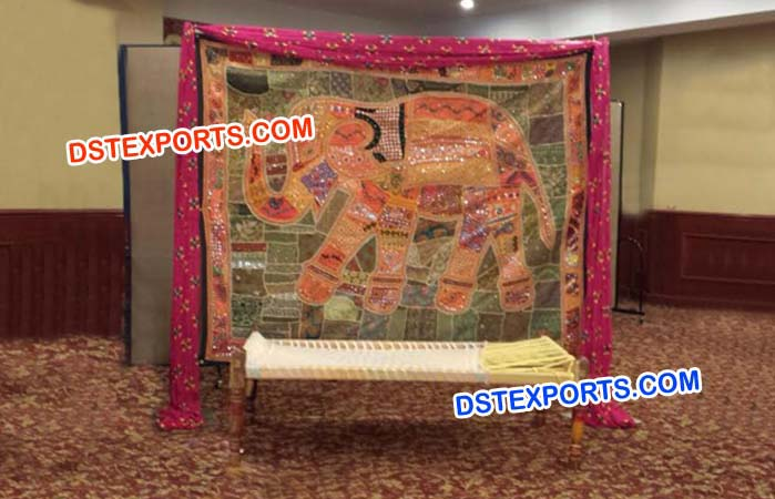 Rajasthani Theme Backdrop Curtain