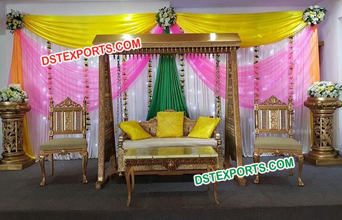 Rajwada Wooden Carved Wedding Swing