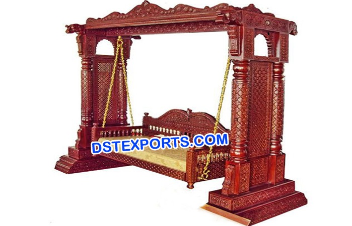 Indian Wooden Carved Swing/Jhoola