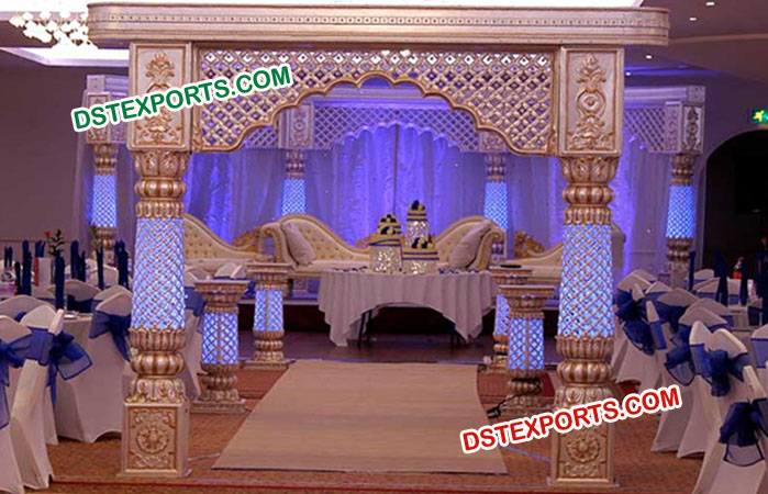 Royal indian wedding new stage decors