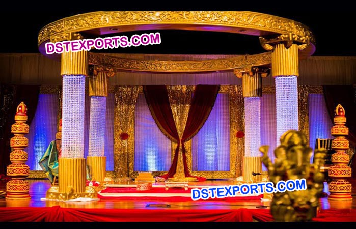 Beautifull wedding crystal fiber mandap