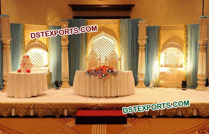 Traditional Fiber Wedding Stage Decoration