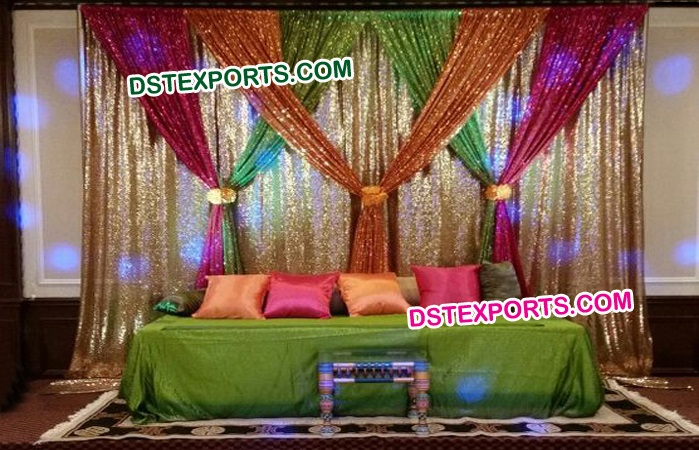 Shiny Colorful Sequin Backdrop
