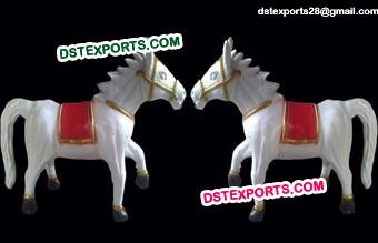 White FRP Entrance Horse Statues