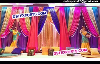 Colourful Wedding Stage Backdrop Curtain