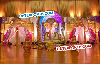 Elephant Face Panels Wedding Stage