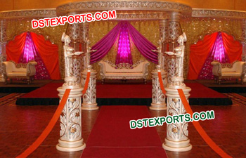 Beautiful Fiber Crystal Wedding Mandap