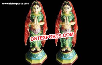 Entrance Fiber Wedding Lady Statue