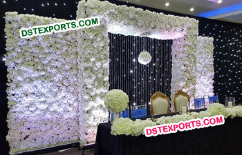 White Flower Panel Backdrop