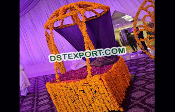 Decorated Carriage For Bridal Entry