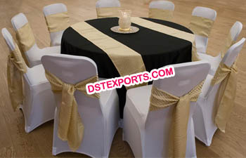 Simple reception round table cloth