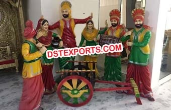 Bhangra Theme Statue For Wedding