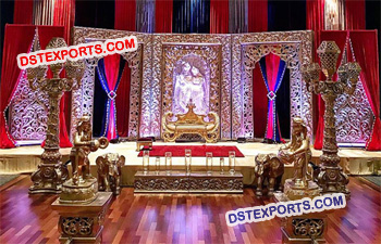Royal Indian Wedding Stage Decoration Frames