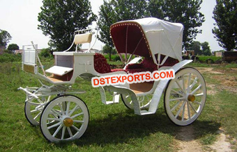 Victoria Horse Carriage For Wedding
