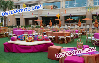 Outdoor Wedding Mehandi Stage Decorations