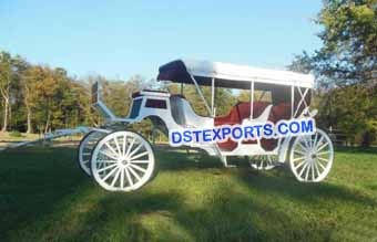 White Beautiful Limousine Carriage