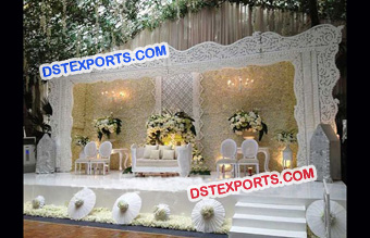 Grand Wedding Stage Backdrop Design
