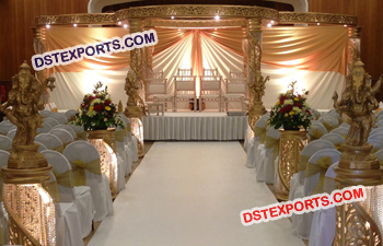 Golden Fiber Crystal Mandap