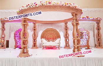 Gorgeous Look Wooden Carved Mandap