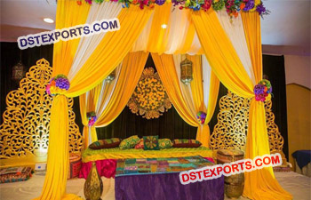 Indian Wedding Mehndi Stage Decoration Canopy