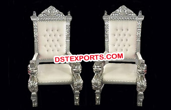 Bride Groom Silver Chairs For Sale