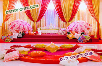Wedding Mehandi Ceremony Stage Decoration