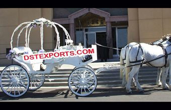 Beautiful Wedding Cinderella Horse Carriage
