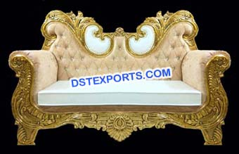 Gold Plated Wedding Sofa