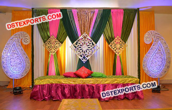 Wedding Paisley Prop Sangeet Stage