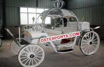 Small Wedding Cinderella Horse Carriage