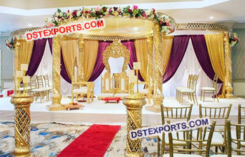 Indian Wedding Crystal Mandap Decoration