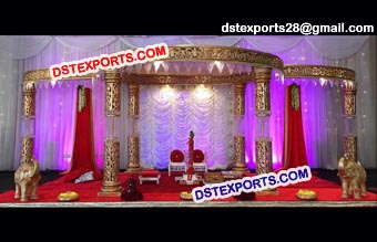 Fiber Crystal Wedding Mandap Set