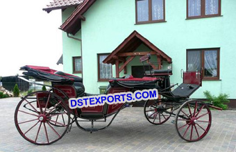 Traditional Black Victoria Horse Buggy