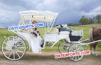 White English Horse Drawn Carriages