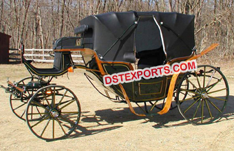 Black Royal Box Type Horse Carriage
