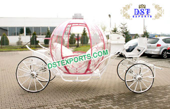 Beautiful Cinderella Horse Carriage With Crown