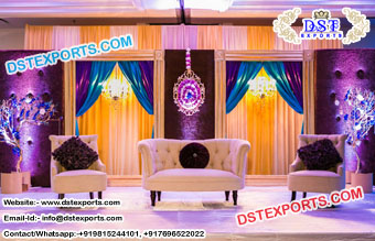 Best Reception Wedding Stage Back Wall Panels