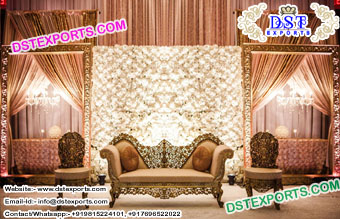 Bollywood Style Wedding  Backdrop Panels Stage